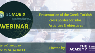 Presentation of the Greek-Turkish cross border corridor: activities & objectives