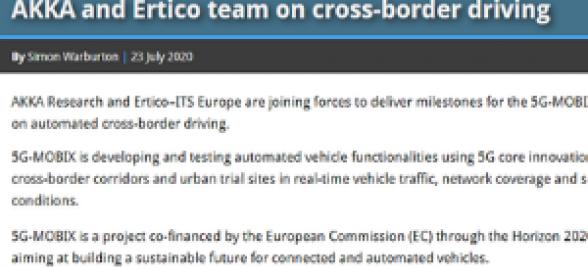 AKKA and ERTICO team on cross-border driving